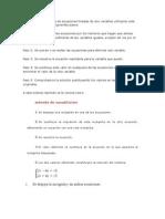 Para Resolver u Sistema de Ecuaciones Lineales de Dos Variables Utilizando Este Método Seguimos Los Siguientes Pasos
