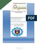 Analisis de La Inflacion en El Peru 1992-2013