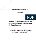 Programas Especialidad Diseño Bioclimatico