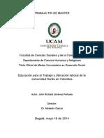 Educación para el Trabajo y Ubicación laboral de la comunidad Sorda en Colombia