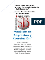 Analisis de Regresion y Correlacion