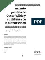 El Pensamiento Ptco. de Wilde y Su Defensa de La Autenticidad
