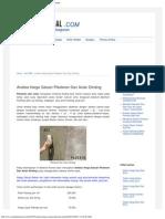 Analisa Harga Satuan Plesteran Dan Acian Dinding _ Material Rumah