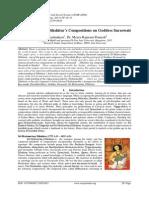 ŚrīMuttuswāmy Dīkshitar's Compositions on Goddess Saraswatī