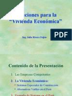 """Soluciones para la """"Vivienda Económica"""""""