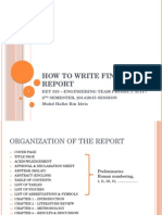 ETP - How to Write Final Report - Updated 15 April 2015