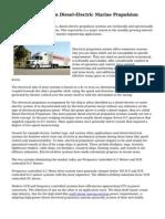 Renewed Interest in Diesel-Electric Marine Propulsion