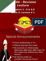 AF304 Revision Lecture-week 9-Mid Test