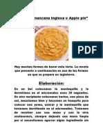 Tarta de Manzana Inglesa o Apple Pie