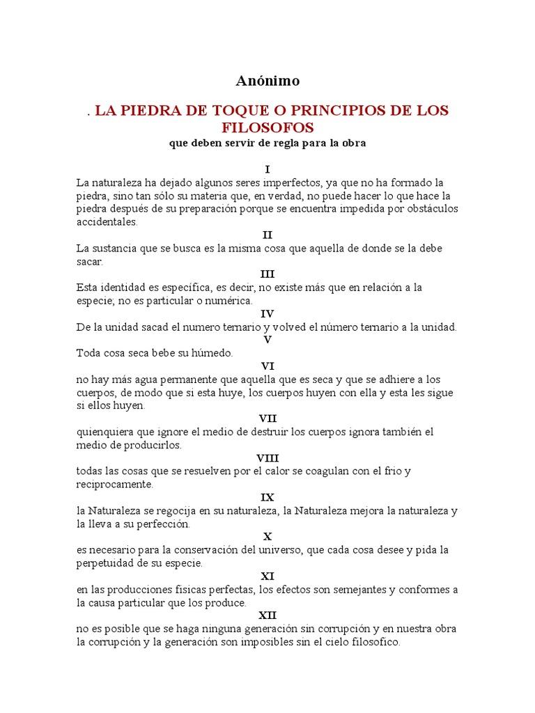 Anonimo la Piedra de Toque o Principios de Los Filosofos 9e86c9603b4