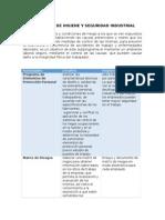 Subprograma de Higiene y Seguridad Industrial