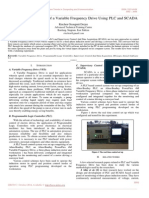 Monitoring and Control of a Variable Frequency Drive Using PLC and SCADA