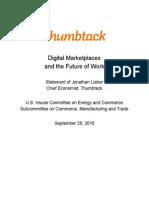Lieber Energy & Commerce Testimony