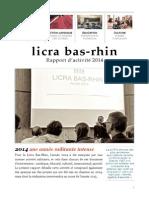 Licra Bas-Rhin - Rapport d'activité 2014
