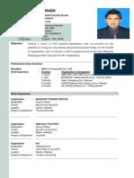Resume of Hasnain