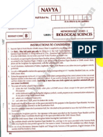 TS EdCET 2015 Biological Science Question Paper & Answer Key