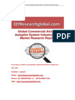 Global Commercial Aircraft Autopilot System Industry 2015 Market Research Report