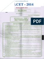 EdCET 2014 Mathematics Question Paper with Answers