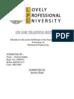 Training Final Report