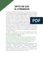 El Concepto de Los Géneros Literarios