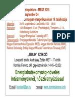 MESZ_Energiahatékonyság-növelés intézményeknél, hőszivattyúzással2015