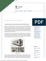 Container Office Untuk Kantor Proyek Yang Portable _ Material Rumah