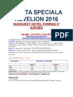 Oferta Speciala Revelion - Hotel Forras - Szeged