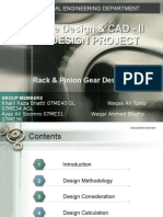 Rack and Pinion Gear Design