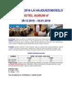 Oferta Speciala Revelion Hotel Aurum -Hajduszoboszlo
