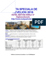 Oferta Speciala Revelion-hotel Matyas Kiraly
