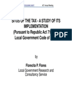 RA 7160 Situs of the Tax - IRR