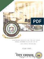 Agenda of the 103rd Regular Session