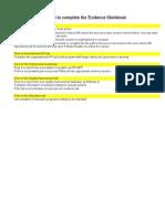 evidence and worksheet standard 6 handover