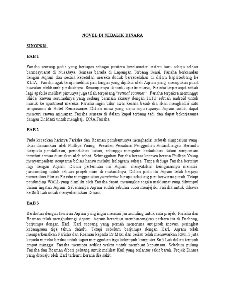 Nota Novel Di Sebalik Dinara
