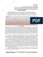 Fabrication of Human hair and Polypropylene and Evaluation of Tensile Strength