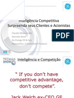 Inteligência Competitiva Claudio Makarovsky GE ENERGY