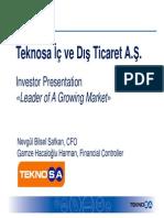Teknosa Presentation TSA Format Q4 2012 LV Print Copy