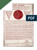 Decreto Divino Cuadro Original de Brahma Kumaris (BKWSU)