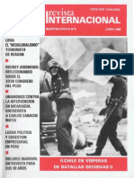 Revista Internacional - Nuestra Epoca N°6 - Edición Chilena - Junio 1986