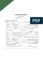 Contractul de Transport (Model)