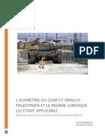 L'Asymétrie Du Conflit Israélo Palestinien Et Sa Qualification Juridique, Berrada, 2015