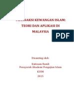 Nota Transaksi Kewangan Islam Teori Dan Aplikasi