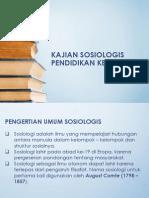 Kajian Sosiologis Pendidikan Kejuruan
