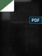 O Nome e a Coisa o Populismo Na Política Brasileira