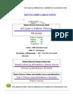 Kumpulan Cara Menghitung Cairan,Gcs,Dll