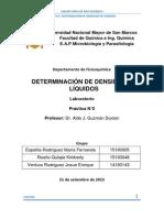 Densida de Líquidos - Informe 2