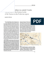 The La Tène culture in central Croatia The problem of the Eastern border of the Taurisci in the Podravina region