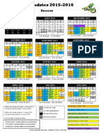 Calendrier Scolaire - Primaire - 2015-2016 - Soccer