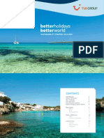 TUI Group Better Holidays Better World Strategy