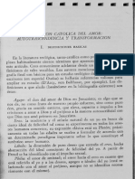 Concepcion Catolica Del Amor. Autotrascendencia y Transformacion - D. Tracy